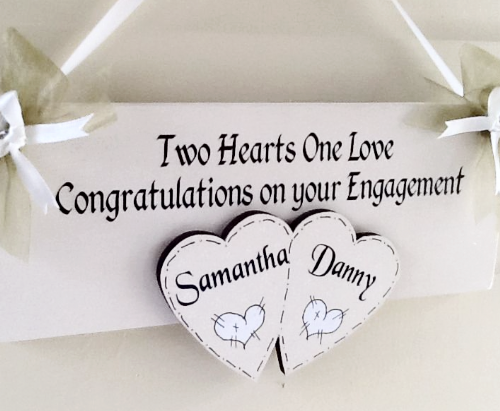 Handmade Personalised Engagement Keepsake
